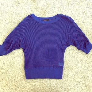 Shimmery blue 3/4 sleeve top